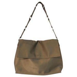 Paloma Picasso Brown Satin Shoulder Bag